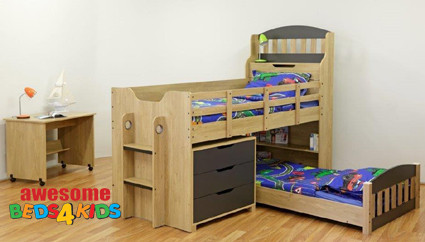 Tugun Low Bunk Bed Bunk Bed With Drawers L Shape Bunk