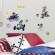 Featuring Mario and Luigi on a kart ready for action, these wall stickers are a first place win for Nintendo® fans of all ages. A speedy transformation for any room, create a Mario Kart 8 scene in minutes with our easy to install peel and stick wall decor. Before you know it, your room will be ready for the big race!
