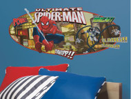 Ultimate Spiderman Headboard Giant Stickers