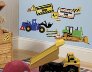 Construction Trucks Wall Stickers