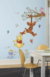 Pooh Swinging for Honey Giant Stickers