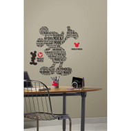Mickey & Friends - Typography Mickey Mouse Giant Wall Stickers