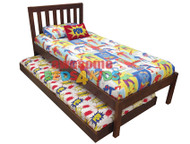 Kado Trundle Bed is made from pine and finished in low gloss white finish or walnut stain.