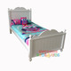 Princess Bed Frame features a beautifully curved head and foot board and is great value, the perfect first bed for your little princess.