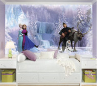 Build an entire Disney Frozen scene on your wall with RoomMates Disney Frozen Chair Rail Prepasted Mural.