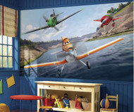 Transform your little racers bedroom into a scene from Disney Planes with this XL Wallpaper Mural.