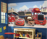 Transform your little racers bedroom into a scene from Disney Cars with this Friends to the Finish XL Wallpaper Mural.