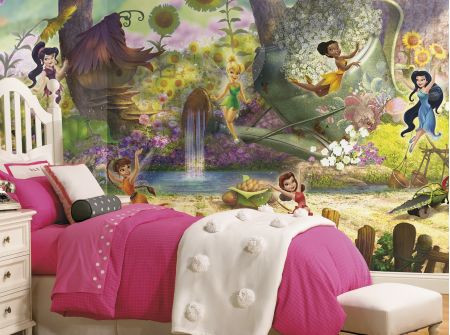 Fairies Pixie Hollow Pre-Pasted XL Wallpaper Mural.