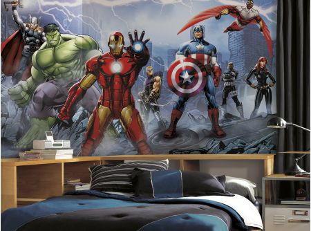 Feel like a member of the Avengers! This Avengers Assemble XL wallpaper mural is perfect for fans and comic book collectors like.