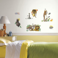 Bring the wild life, fun and adventure to your little one's room in minutes with these Madagascar Wall stickers!