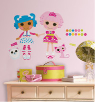 Sew magical! Sew cute! Bring the magical handmade world of Lalaloopsy into any room with these removable and repositionable giant wall decals.