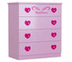 Royal Princess Tallboy completes your little girls bedroom princess theme. Great storage and great value for money. Co-ordinates with all pink novelty beds.