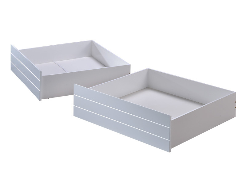 Evora Two Underbed Storage Drawers are a great space saving option. Very generous depth, drawers are on castors.