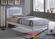 Sierra Bed Frame features an opened slated curved headboard and is great value, the perfect first bed.