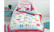 Floral Spot Single Quilt Cover by Cubby House Kids
