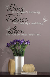 Sing Dance Love Wall Stickers
