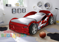 No 9 Red Turbo Car Bed
