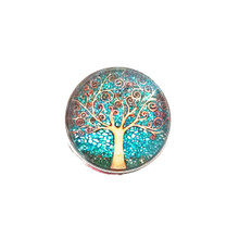 GLASS TREE OF LIFE SNAP JEWEL
