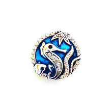 BLUE CRYSTAL SEAHORSE SNAP JEWEL