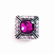 AMETHYST CRYSTAL COLBY SNAP JEWEL