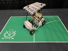 Golf Cart Handmade 3D Kirigami Card