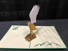 Eagle  Handmade 3D Kirigami Card