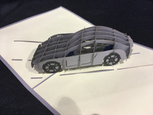 Sports Car  Handmade 3D Kirigami Card