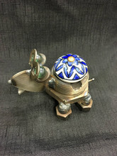 Cabinet Knob Frog Handcrafted Found Art