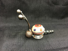 Cabinet Knob Snail  Handcrafted Found Art