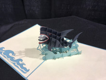 Handmade 3D Kirigami Card Shark