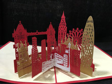 London  Handmade 3D Kirigami Card