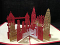 London  Handmade 3D Kirigami Card