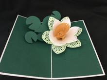 Handmade 3D Kirigami Card  Water Lilly