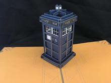 Large Tardis Dr Who Handmade 3D Kirigami Card