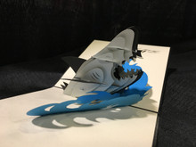 Handmade 3D Kirigami Card Shark 2