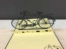 Handmade 3D Kirigami Card Bike