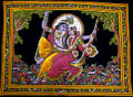 Copy of Tapestry Hand painted Radha Krishna