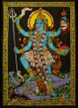 Tapestry Hand Painted Goddess Kali