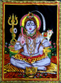 Tapestry Hand Painted God Shiva
