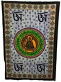 Indian Cotton Tapestry Hand Painted Om Buddha (135 x 220 cm)