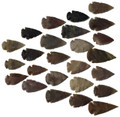"Set Of 25 Indian Arrowheads Agate New Replica 1/2 "" - 1 1/2 "" L"