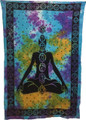 Indian Cotton Tapestry Tie & Dye 7 Chakra (135 x 220 cm)