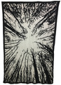 Indian Cotton Tapestry Forest Black & White (135 x 220 cm)