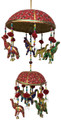 Cotton Hanging Decorative Chime Elephant Double Basket
