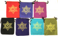 Cotton Pouch 7 Chakras  set of 7 (5''x4'')
