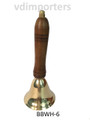 Brass Bell with Wood Handle Small