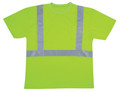 V411: Class II Hi Vis Lime Green Mesh T-Shirt Round Neck