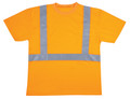 V410: Class II Hi Vis Orange Mesh T-Shirt, Round Neck