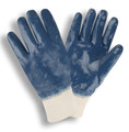 6885: Interlock Lined/Smooth Finish/Knit Wrist Nitrile Gloves - 12 Pack