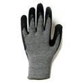 3885: Economy Dark Gray/Black Crinkle Latex Coating String Knit Gloves  12 Pack